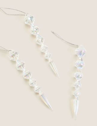 An Image of M&S 3 Pack Hanging Icicle Decorations