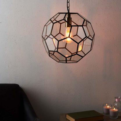 An Image of Vogue Hillier 1 Light Pendant Brass