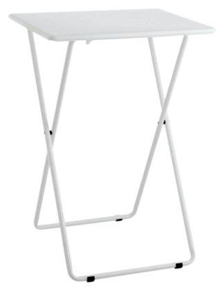 An Image of Habitat Airo Metal Folding Table - White
