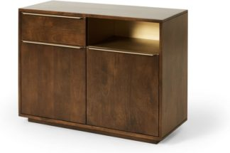 An Image of Anderson Compact Sideboard, Mango Wood & Brass