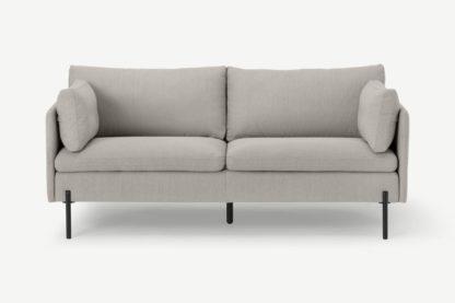 An Image of Zarina Large 2 Seater Sofa, Mina Flint Grey
