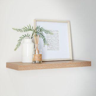 An Image of Oak Floating Shelf Oak (Brown)