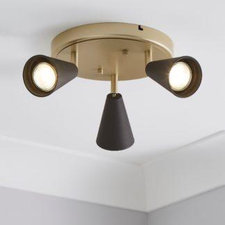 An Image of Grove 3 Light Spotlight Fitting Gold