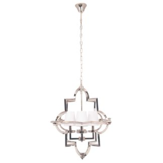 An Image of Silver 4 Shade Pendant