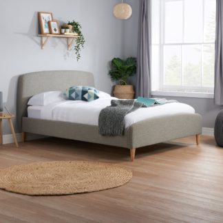 An Image of Quebec Fabric Bed Frame Grey