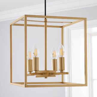 An Image of Madrid 4 Light Ceiling Fitting Gold