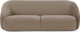 An Image of Blanca 3 Seater Sofa, Mink Velvet