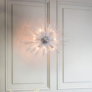 An Image of Vogue Winton 9 Light Sputnik Chandelier Chrome