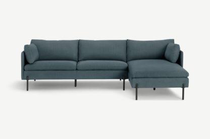 An Image of Zarina Right Hand Facing Chaise End Corner Sofa, Mina Earl Blue