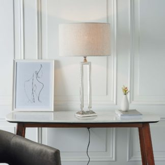 An Image of Vogue Nicoya Table Lamp Base Nickel