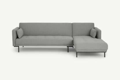 An Image of Harlow Right Hand Facing Chaise End Click Clack Sofa Bed, Mountain Grey