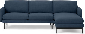An Image of Miro Right Hand Facing Chaise End Corner Sofa, Midnight Weave
