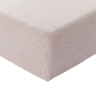 An Image of Argos Home Fleece 28cm Fitted Sheet - Single