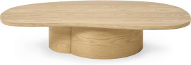 An Image of Sharma Organic Coffee Table, Oak Finish