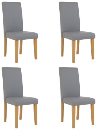 An Image of Argos Home 4 Midback Dining Chairs - Grey
