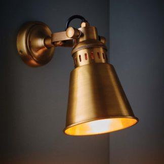 An Image of Vogue Cape Wall Light Brass