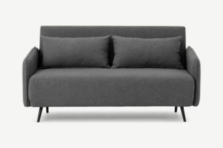 An Image of Hettie Large Double Sofa Bed, Marl Grey