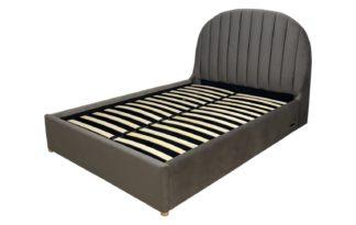 An Image of Koble Freya Ottoman Smart Velvet Double Bed Frame - Grey