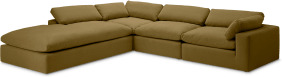 An Image of Samona Left Hand Facing Full Corner Sofa, Latte Cotton & Linen Mix