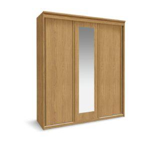 An Image of Argos Home Hallingford 3 Door Sliding Wardrobe - Oak Effect