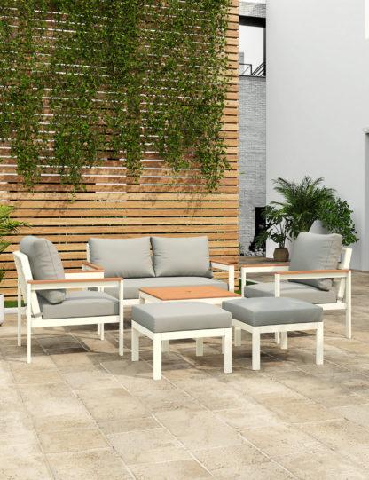 An Image of M&S Porto 6 Seater Garden Furniture Set
