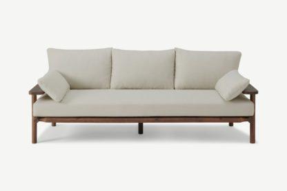 An Image of Laruna 3 Seater Sofa, Dark Acacia & Natural