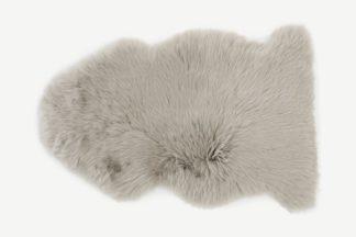 An Image of Helgar 100% Sheepskin Rug, 60 x 90 cm, Soft Taupe