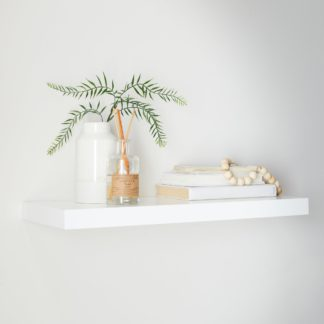 An Image of White Floating Shelf White