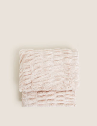 An Image of M&S Faux Fur Throw