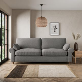 An Image of Salisbury Textured Weave 4 Seater Sofa Textured Weave Graphite