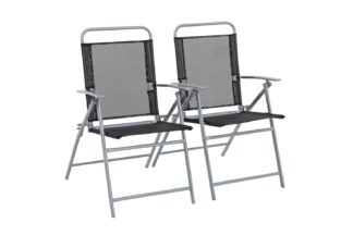 An Image of Argos Home Atlantic Steel Set of 2 Folding Chairs