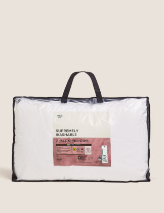 An Image of M&S 2 Pack Supremely Washable Firm Pillows