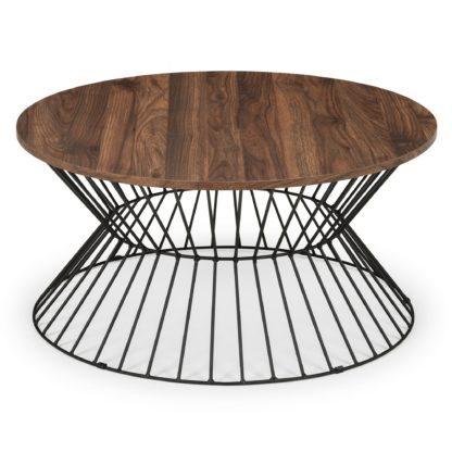 An Image of Jersey Round Wire Coffee Table Brown