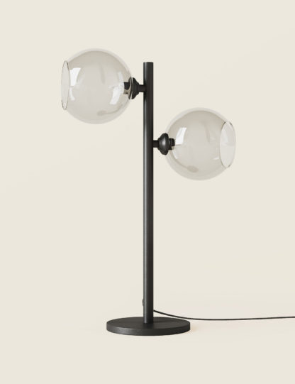 An Image of M&S 2 Light Globe Table Lamp