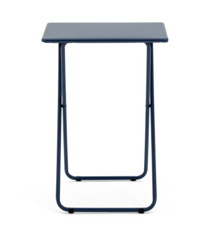 An Image of Habitat Airo Metal Folding Table - Blue