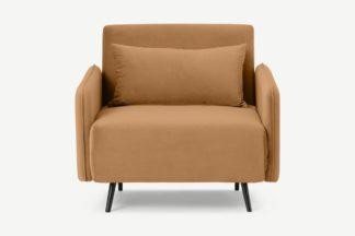 An Image of Hettie Single Sofa Bed, Apricot Velvet