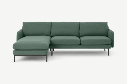 An Image of Miro Left Hand Facing Chaise End Corner Sofa, Bay Green