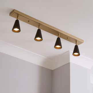 An Image of Grove 4 Light Spotlight Bar Fitting Gold