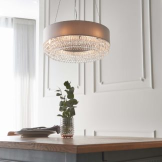 An Image of Vogue Lucerne 6 Light Ceiling Fitting Silver