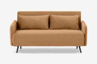 An Image of Hettie Large Double Sofa Bed, Apricot Velvet