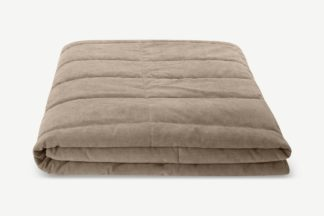 An Image of Jovian Quilted Bedspread, 225 x 220cm, Taupe