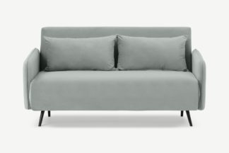 An Image of Hettie Large Double Sofa Bed, Ice Blue Velvet