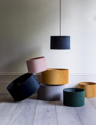 An Image of M&S Velvet Lamp Shade