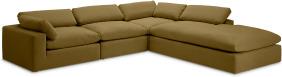 An Image of Samona Right Hand Facing Full Corner Sofa, Latte Cotton & Linen Mix