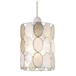 An Image of Capiz Natural Dots Lamp Shade