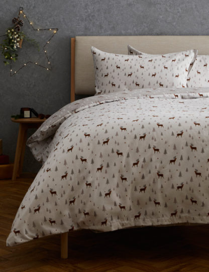 An Image of M&S Brushed Cotton Stag Bedding Set