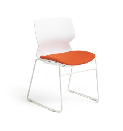 An Image of Habitat Tayte Office Chair - White and Orange