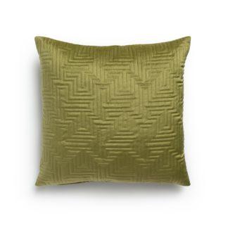 An Image of Habitat Pinsonic Textured Cushion - Olive - 43x43cm