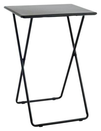 An Image of Habitat Airo Metal Folding Table - Black