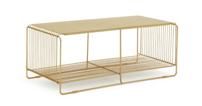 An Image of Habitat Riva Coffee Table - Gold